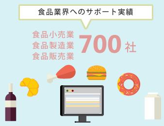 食品業界へのサポート実績700社