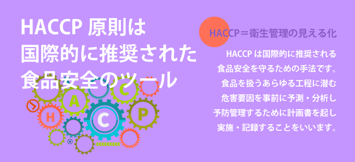 HACCP原則は国際的に推奨された食品安全のツール