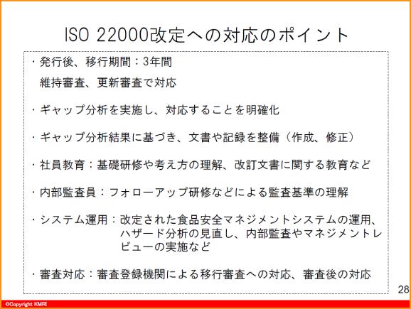 ISO22000改定への対応のポイント
