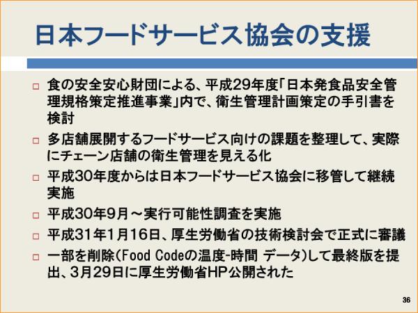 日本フードサービス協会の支援